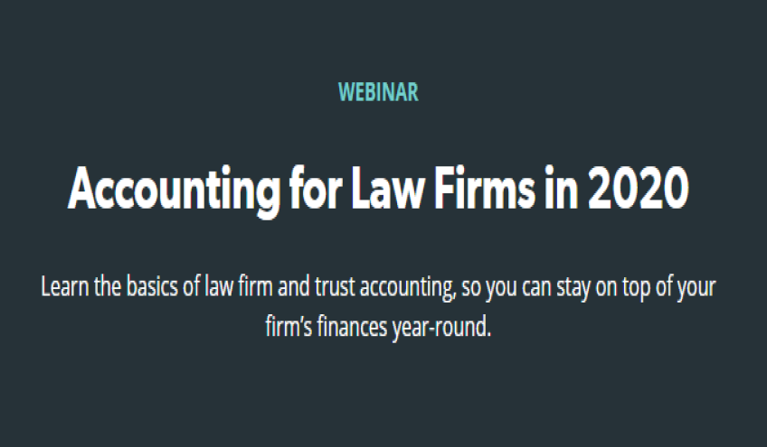 Accounting for Law Firms in 2020