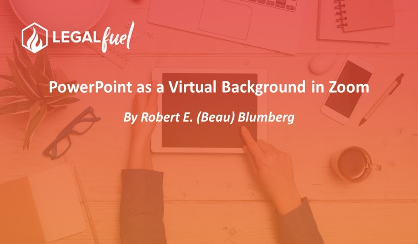 PowerPoint as a Virtual Background in Zoom